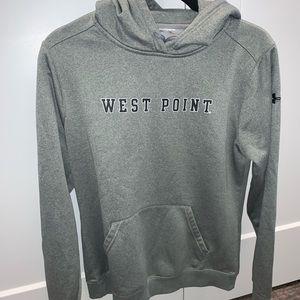 Grey West Point Under Armour hoodie